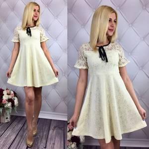 Платье короткое коктейльное элегантное Т1636
