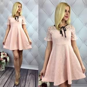 Платье короткое коктейльное элегантное Т1637