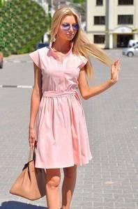 Платье короткое однотонное современное Т6350