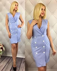 Платье короткое однотонное элегантное Т7889