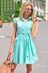 Платье короткое однотонное современное Т6352