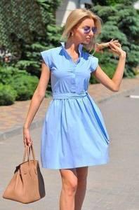 Платье короткое однотонное современное Т6353