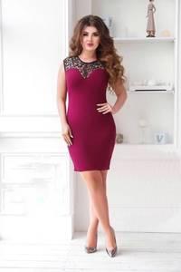 Платье короткое красное облегающее Т6367